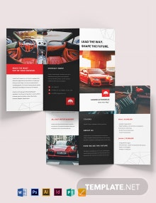 Automotive Marketing Tri-Fold Brochure Template