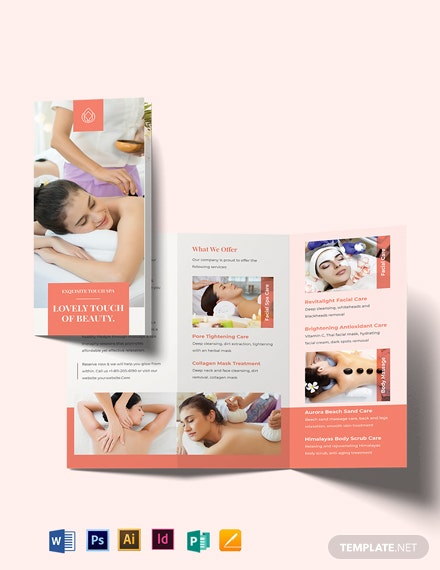 Beauty Spa Tri-Fold Brochure Template