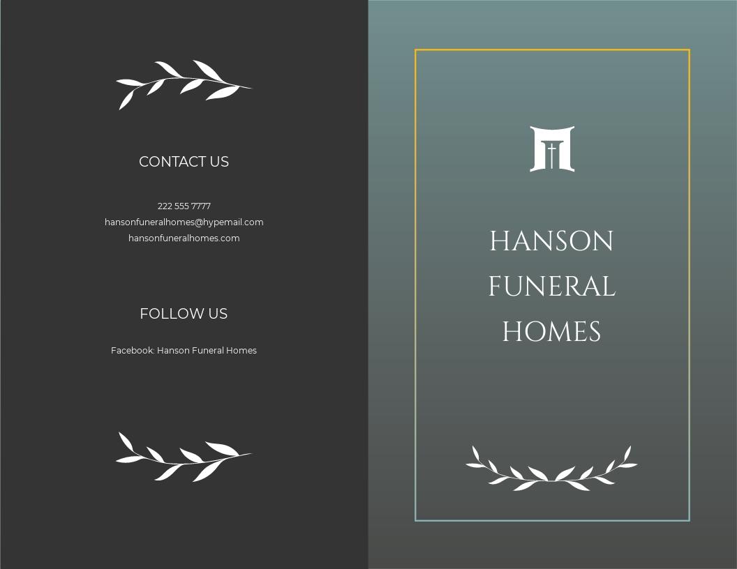 Blank Funeral Plan Bi fold Brochure Template.jpe