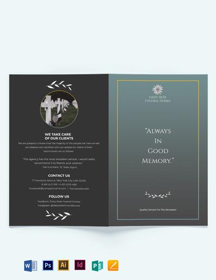 Blank Funeral Plan Bi-fold Brochure Template