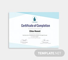 Free industrial training certificate template in adobe photoshop free nurse training certificate template yadclub Gallery