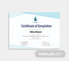 Free dog training certificate template in microsoft word microsoft free nurse training certificate template yadclub Images
