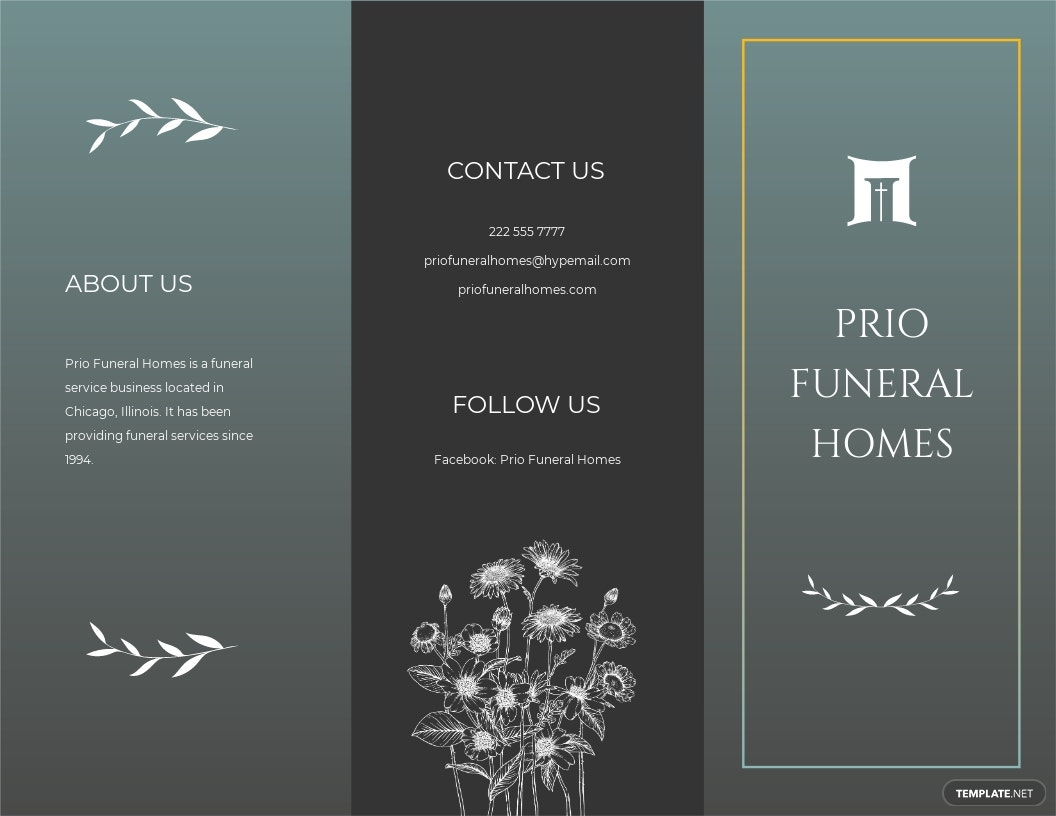 Blank Funeral Plan Tri Fold Brochure Template.jpe
