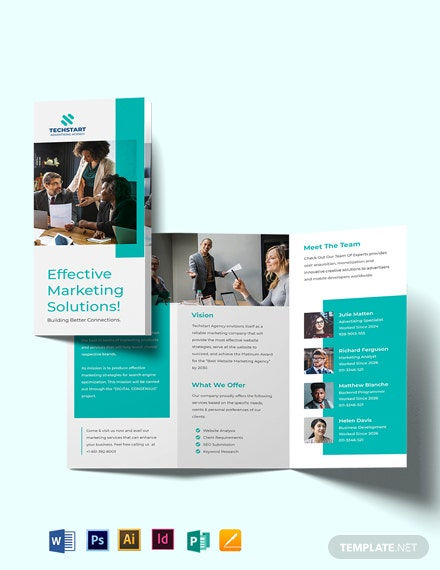 Business Advertising Tri-fold Brochure Template