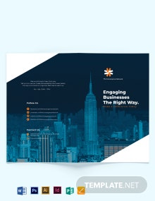 Business Company Profile Bi-fold Brochure Template