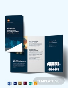 Business Company Profile Tri-fold Brochure Template