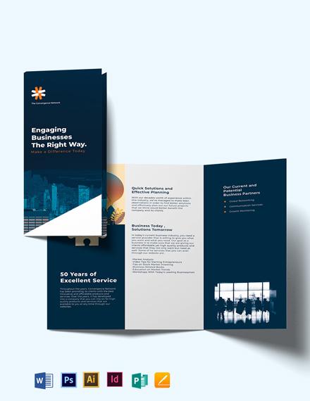 Business Company Profile Tri-fold Brochure Template