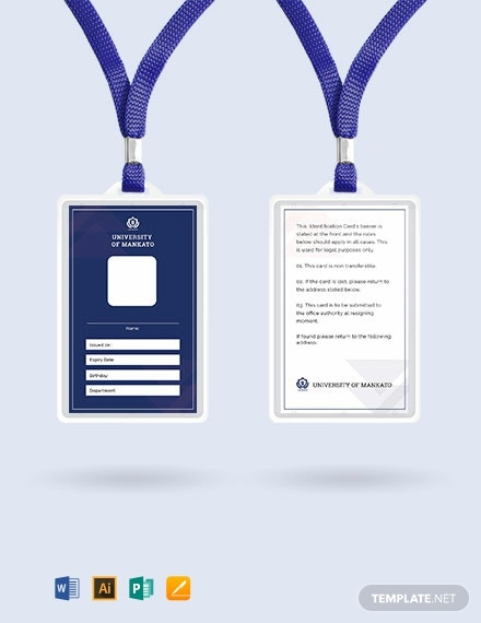 Free Blank ID Card Template