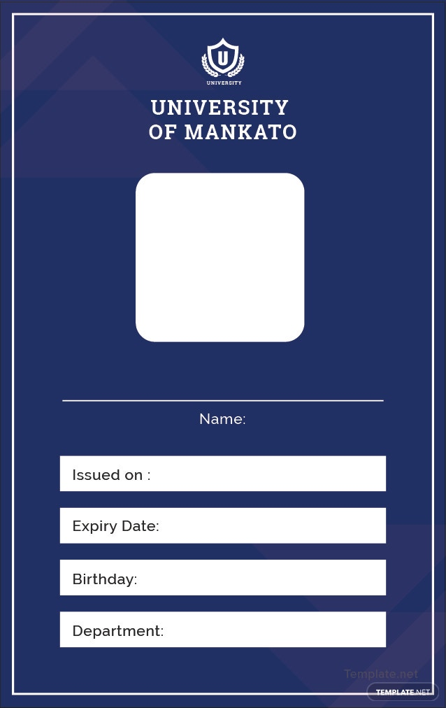 Free Blank Id Card Template In Adobe Illustrator  TemplateNet