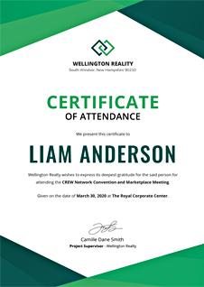 Free Program Attendance Certificate Template