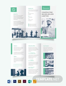 Construction Firm Tri-fold Brochure Template