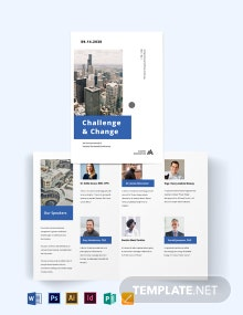 Corporate Event Company Bi-fold Brochure Template