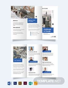 Corporate Event Company Tri-fold Brochure Template
