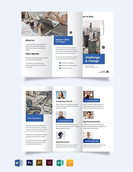 Corporate Event Company Tri-fold Brochure Template