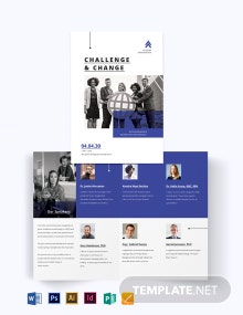 Corporate Fundraising Event Bi-fold Brochure Template