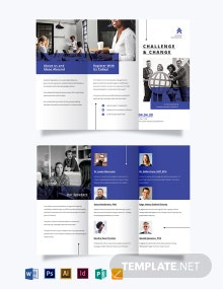 Corporate Fundraising Event Tri-fold Brochure Template
