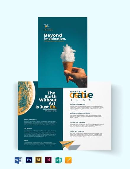 Creative Company Profile Bi-fold Brochure Template