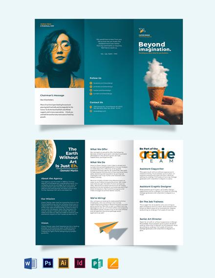Creative Company Profile Tri-fold Brochure Template