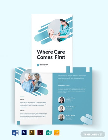 Creative Home Care Bi-Fold Brochure Template
