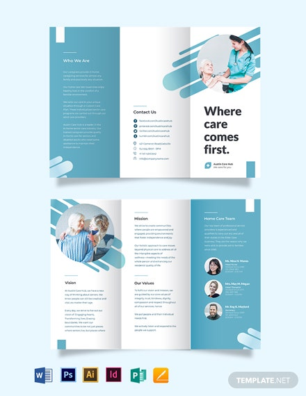 Creative Home Care Tri-Fold Brochure Template