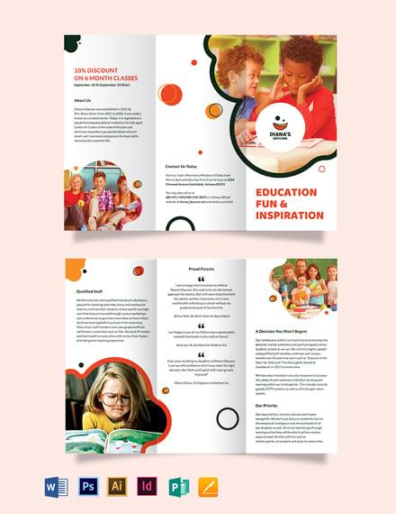 Diana's Daycare Tri-Fold Brochure Template