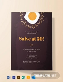 Free Formal Breakfast Invitation Template