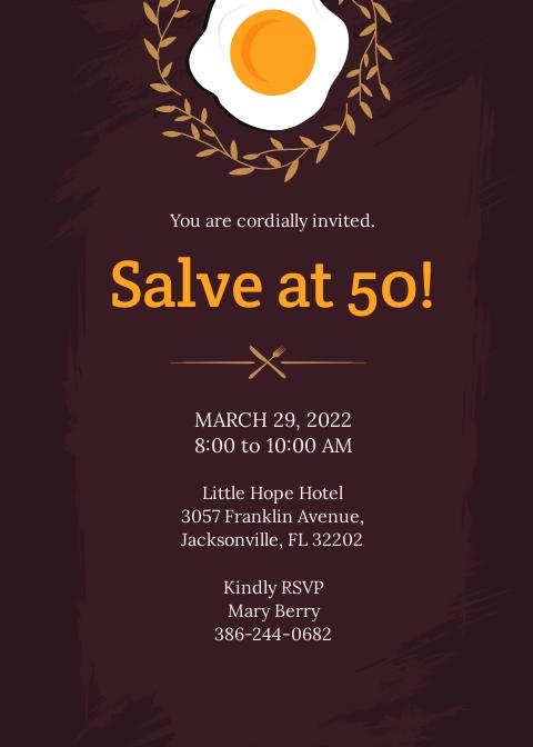 Free Formal Breakfast Invitation Template