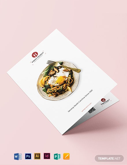 Food and Drink Bi-Fold Brochure Template