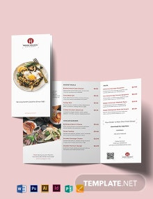 Food and Drink Tri-Fold Brochure Template
