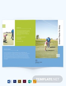 Golf Resort Bi-Fold Brochure Template