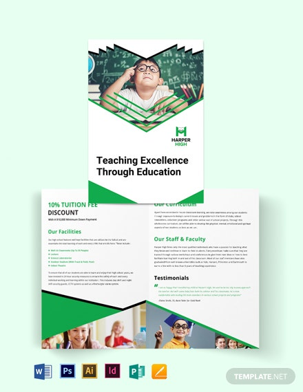 Harper High Bi-Fold Brochure Template