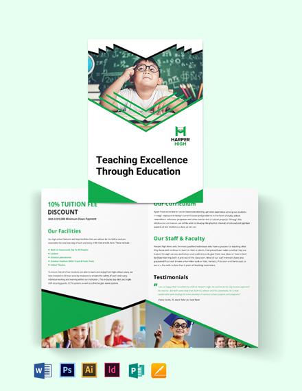 Harper High Bi-Fold Brochure Template