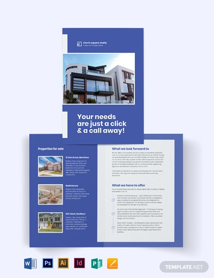 New Home Agent/Agency Bi-Fold Brochure Template