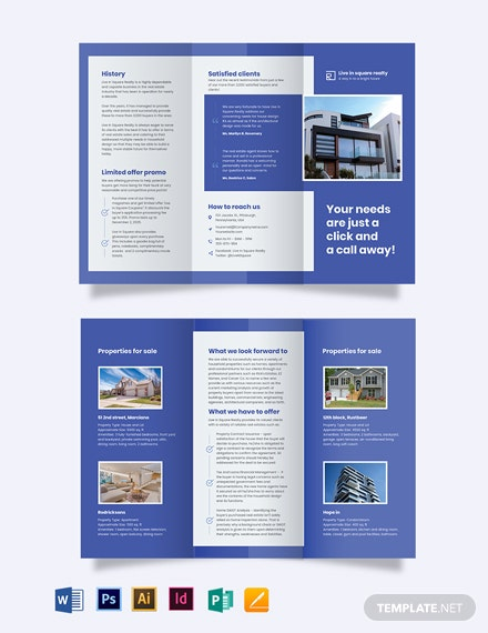 New Home Agent/Agency Tri-Fold Brochure Template