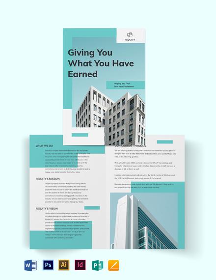 Property Agent/Agency Bi-Fold Brochure Template