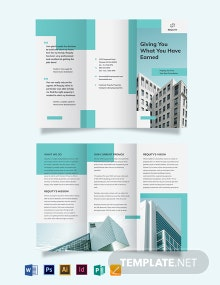 Property Agent/Agency Tri-Fold Brochure Template