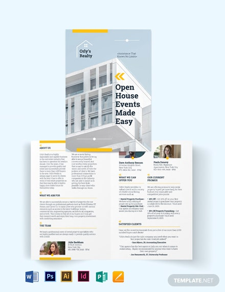 Rental Listing BiFold Brochure Template