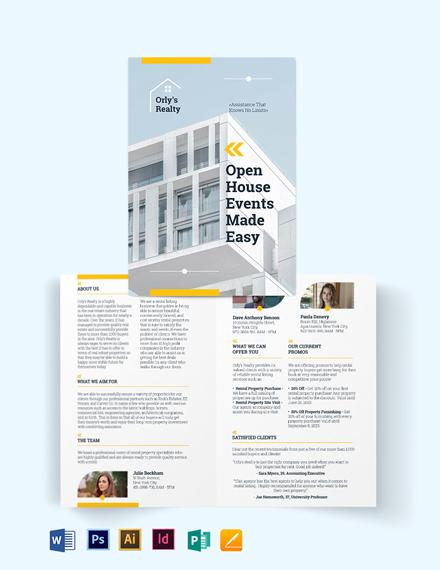 Rental Listing Bi-Fold Brochure Template