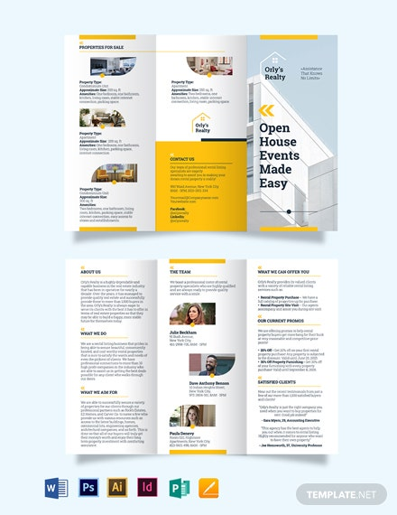 Rental Listing TriFold Brochure Template