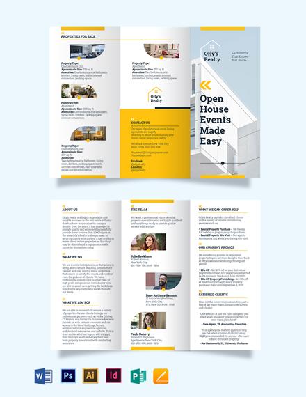 Rental Listing Tri-Fold Brochure Template