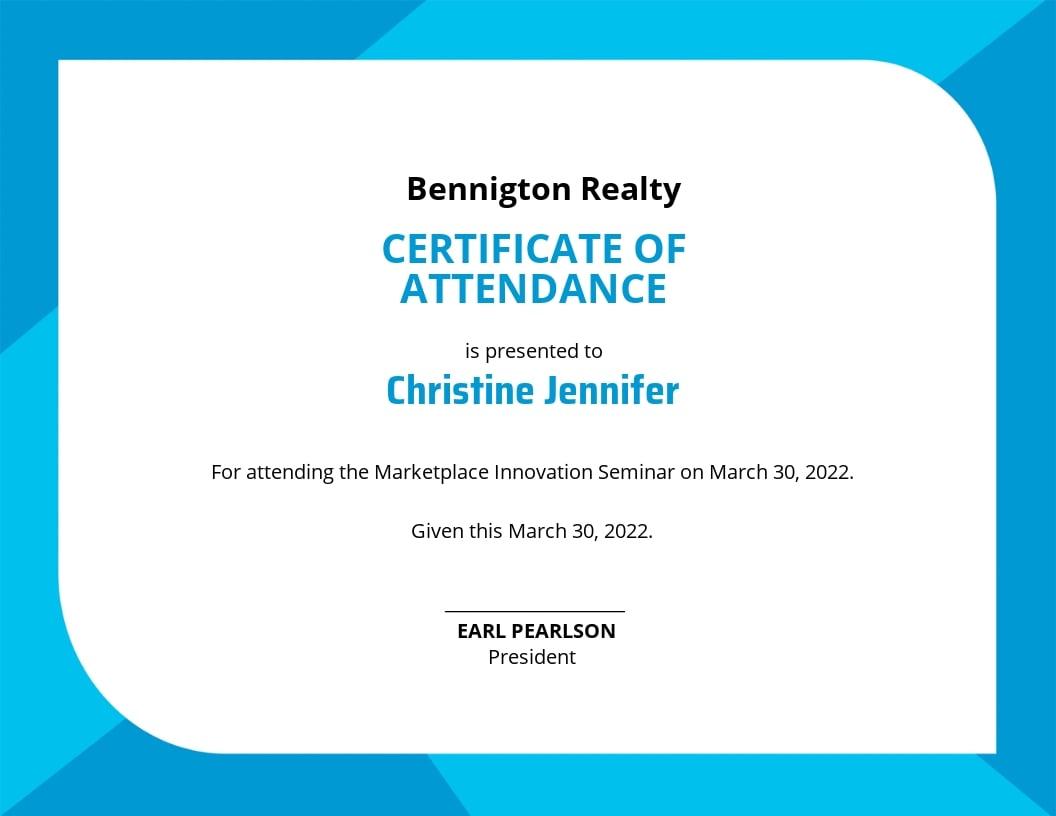 Seminar Attendance Certificate Template.jpe