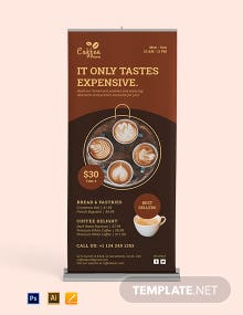 Cafe Roll Up Banner Template