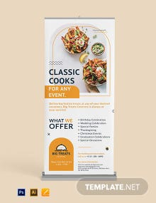 Catering Service Roll Up Banner Template