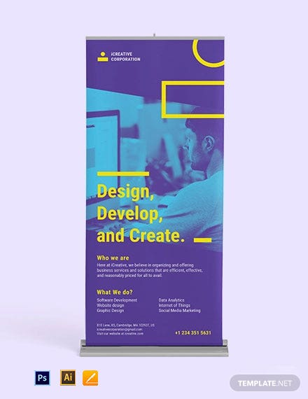 Creative Corporate Roll Up Banner Template