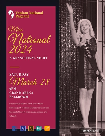 Free Pageant Flyer Template