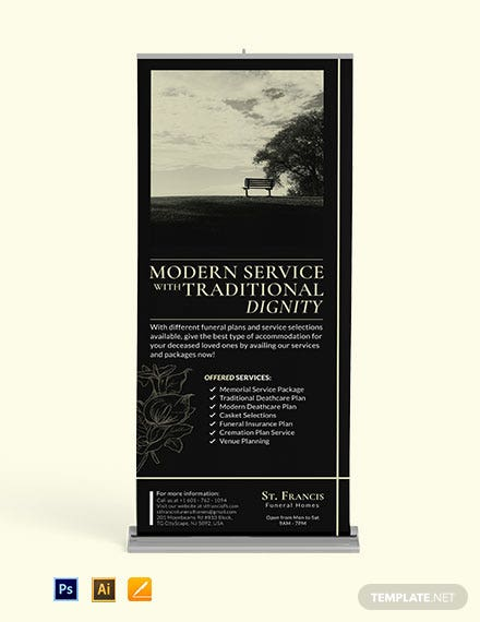 Funeral Services Roll Up Banner Template