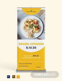 Grand Opening Roll Up Banner Template