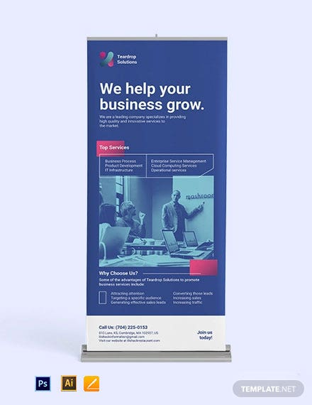 Modern Corporate Roll up Banner Template