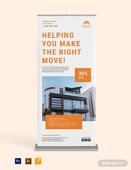 Real Estate Roll Up Banner template