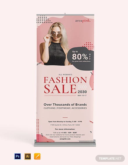 Sales Promotion Roll Up Banner Template